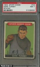 1933 Goudey Sport Kings Boxing #18 Gene Tunney PSA 7 NM