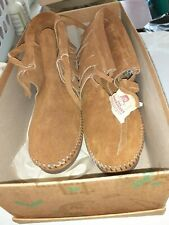 Rare Estate Sale Find.Genuine Cherokee Indian Made Moccassins With Certificates.