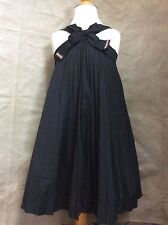 I PINCO PALLINO Girl 6 8 PLEATED PARTY DRESS Dramatic Bow FULL SKIRT Italy Black