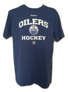 New Edmonton Oilers Youth Sizes M-L-XL Blue Reebok Shirt $18