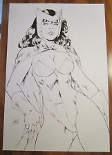 SCARLET WITCH ORIGINAL Marcio Doug Pinup sexy X-Men Avengers queen white black 1