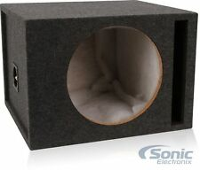 "Belva Single 12"" Vented MDF Subwoofer/Sub Woofer Enclosure Box w/ Gray Carpet"