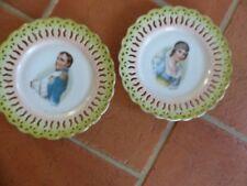 Paire d'assiettes Napoléon et Marie Louise - LIMOGES ?