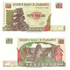 Zimbabwe 50 Dollars 1994 P-8a Banknotes UNC