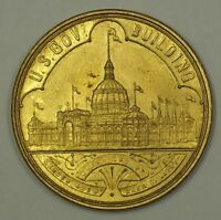1893 U.S. Government Building World's Columbian Exposition Chicago Token BU