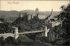 Burg Elbogen Loket Tschechien Ansichtskarte ~1910 Blick auf die Brücke und Burg