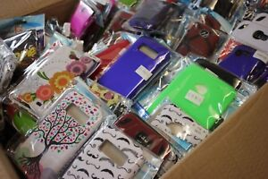 Bulk Wholesale Phone Cases and Screen Protectors - Lot 25 50 100 - Various Types