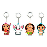 2018 NEW Movie Princess Moana Action Figure Maui Adventure Accessories Key Rings