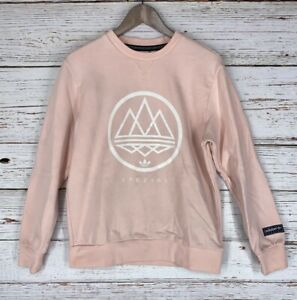 Adidas Spezial Womens Sz Medium Mod Trefoil Crewneck Sweatshirt Icy Pink