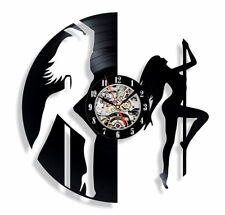 Pole Dance Vinyl Wall Clock Handmade Dancing Girls Oornament Decoration and Gift