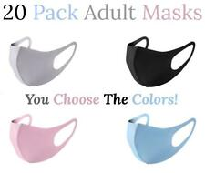 20 Pack Unisex Adult Face Mask Reusable Washable Clothing Cover Masks Cloth USA