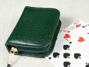 Deluxe Playing Card Case Single Card Pack Made in England Real Leather