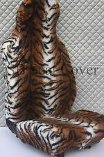 FORD FOCUS CAR SEAT COVERS BROWN TIGER FAUX FUR - FULL SET