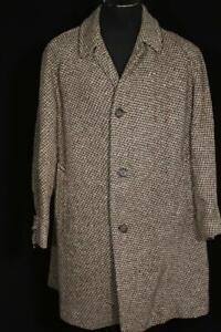 VERY RARE 1950'S-60'S  AQUASCUTUM LONDON SCOTTISH TWEED OVERCOAT SIZE LARGE 44