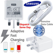Official Samsung Galaxy FAST Charger & Cable Note 3 Tab 3 4 S3 S4 S5 S6 S7 edge