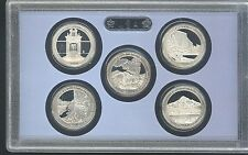 2010 US MINT 5 COIN AMERICA the BEAUTIFUL PROOF QUARTER SET no box