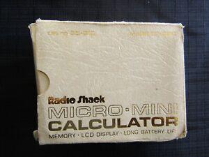 Vintage Calculator RADIO SHACK EC-222 Original Box Case and User Manual