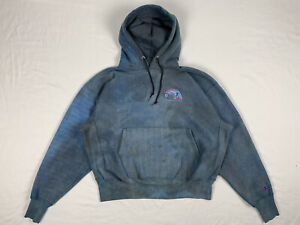 vintage 80s Faded Blue champion reverse weave hoodie Made In USA