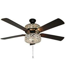 River of Goods Gracie Grand 52 in. Silver w/ Clear Crystal LED Ceiling Fan