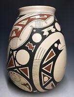20th C. Casas Grande Mata Ortiz Pottery Vintage Polychrome Olla Vessel Pueblo
