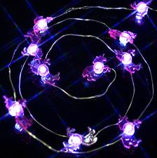 LED Light Up Pink Unicorn Fairy Lights Cute  Battery Night Light 10 Per String