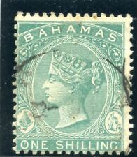 Bahamas 1882 QV 1s blue-green very fine used. SG 44a. Sc 23.