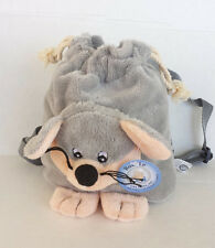 "Little MOUSE  MINI BACKPACK 7"" Soft Plush Animal  Backpack NEW"