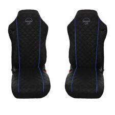 MAN TGA , TGL , TGM , TGS , TGX Truck Seat Covers 2 pieces WITH BLUE PIPING