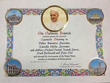 MOD 4 OFFICIAL PERSONALIZED POPE BLESSING CERTIFICATE FROM VATICAN W/ PAPAL SEAL