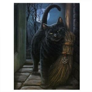 BRUSH WITH MAGIC LISA PARKER CANVAS PICTURE ART PRINT GOTHIC WITCHES BROOM CAT