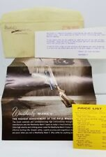 WEATHERBY 1966 Brochure Rifles Semi Automatic Bolt Act Scopes Incl. Price List
