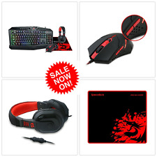 Keyboard, Mouse, Headset, Pad, Wired Ergonomic Set With Mic For Windows PC Gamer