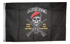 2x3 Army Airborne Mess With The Best Die Like The Rest Red Hat Flag 2'x3'