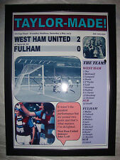 West Ham United 2 Fulham 0 - 1975 FA Cup final - framed print