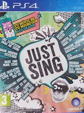 JUST SING. JUEGO PARA PS4. REQUIERE MICROS O MÓVIL. NUEVO, PRECINTADO.