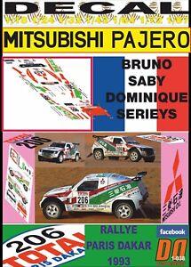 DECAL MITSUBISHI PAJERO RALLIART BRUNO SABY DAKAR 1993 (09)