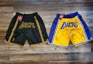 Lakers Basketball Team Shorts Lebron James Summer League Mens Black Size M-XL