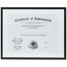 Lawrence 11x14 Dual Use Aluminum Document Frame - Black (Same Shipping Any Qty)