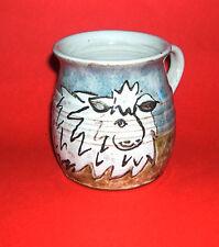 Annette McCourty Barnbarroch Pottery - Hand Painted Comical Sheep Design Mug.