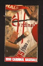 St Louis Cardinals--1990 Pocket Schedule--Budweiser