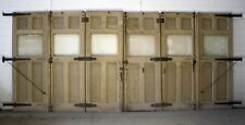 "20'x107""H Antique Vintage Victorian Wood Carriage House Garage Door Glass Window"