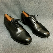 DINO MONTI ALLEN MENS BLACK LEATHER SHOES OXFORDS SZ 9.5 EEE MADE IN ITALY XLNT