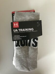 Under Armour Socks 3 Pair Statement Crew Socks Boys Large 4-6.5
