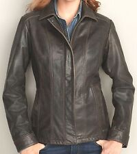 EDDIE BAUER STINE LEATHER JACKET SHORT COAT BLAZER BROWN TL L $399