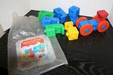 Vintage 1969 Kup-L-Ups Train Tuppertoys Tupperware Pop Together Building Toy Kup