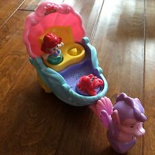Fisher-Price Little People Little Mermaid Seahorse Clam Shell Carriage W/ Figure