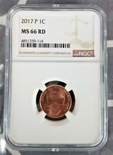 2017 P 1C Lincoln Shield Cent MS 66 RD NGC ONLY YEAR WITH P MINTMARK!!