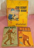 Vintage Lot of 3 ~Boy Scout Hand Book, Bear Cub Scout Book & Fun Activity Book