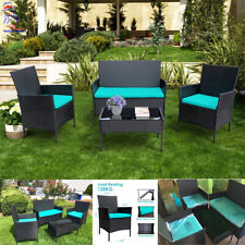 New listing 4Pc Limited Edition Patio Furniture Set Rattan Sofa Outdoor Table Garden Cushion