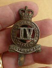 POST WW11 4th QUEENS OWN HUSSARS OFFICER  QUALITY  HAT CAP BADGE
